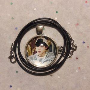 Kpop BTS Jimin Silver Pendant Necklace